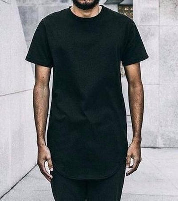 NinjApparel  - Basic Extended Tee - Black - Front