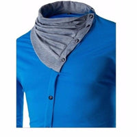 NinjApparel - The Elite Ninja - Blue - Close - Neck - Front