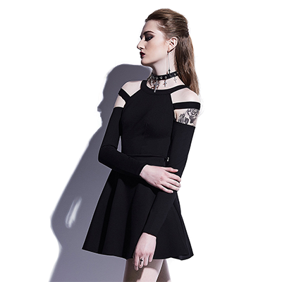 Division Cold Shoulder Dress - NinjApparel - View 3