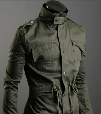NinjApparel - Jieitai Jacket Green Buttoned Up Front View
