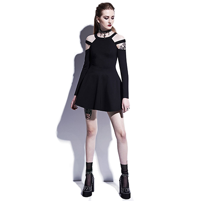 Division Cold Shoulder Dress - NinjApparel - View 1