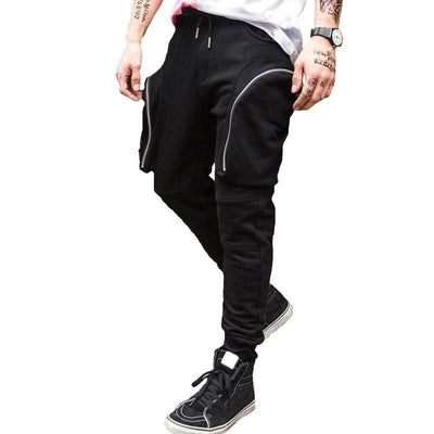 Riot Joggers - NinjApparel - Black Side View 2