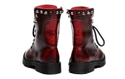 Rival Boots - NinjApparel - Red Back View