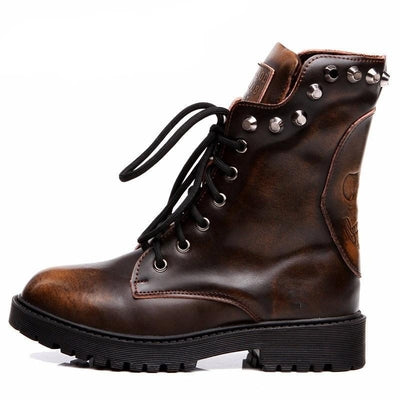 Rival Boots - NinjApparel - Brown Side View