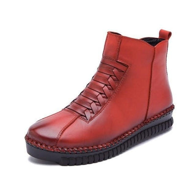 Ankle Samurai Boots - NinjApparel - Red 2