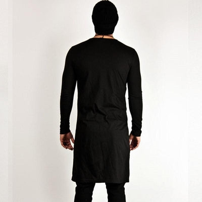 Extended Samurai Slit - NinjApparel - Black Back View 1