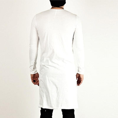 Extended Samurai Slit - NinjApparel - White Back View 1