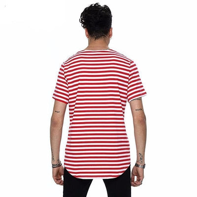 Banded Tee - NinjApparel - Red Back View 1