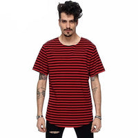 Banded Tee - NinjApparel - Red Black Front View 1