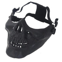Half Face Skull Mask  - Black