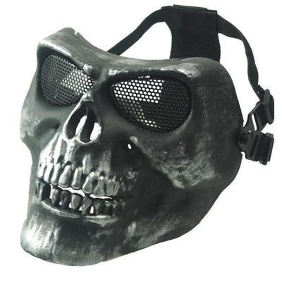 Ghost Skull Mask - Grey