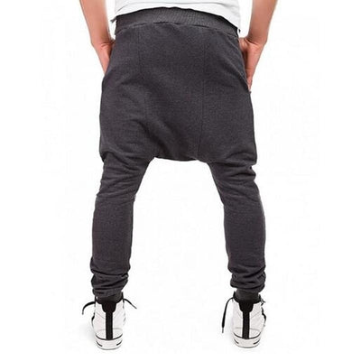 Side Zip Ninja Joggers - NinjApparel - Dark Grey Back View