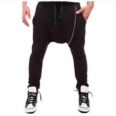 Side Zip Ninja Joggers - NinjApparel - Black Front View 1