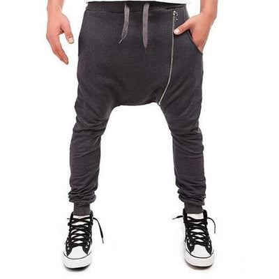 Side Zip Ninja Joggers - NinjApparel - Dark Grey Front View 1