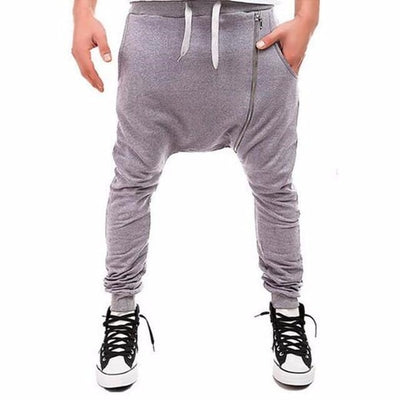 Side Zip Ninja Joggers - NinjApparel - Light Grey View 1