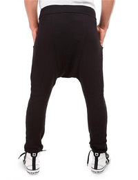 Side Zip Ninja Joggers - NinjApparel - Black Back View
