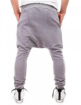 Side Zip Ninja Joggers - NinjApparel - Light Grey Back View