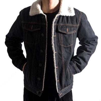 Denim Bomber Fleece