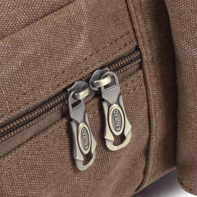 NinjApparel - Vintage Backpack -  Zipper Detail
