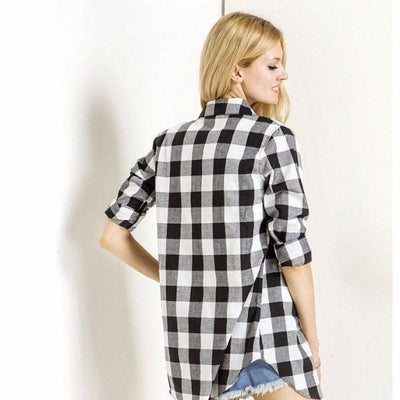 NinjApparel - Extended Plaid - Black - Back