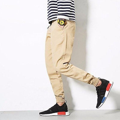NinjApparel - Osaka Cuffs - Navy - Beige - Side