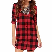 NinjApparel - Extended Plaid - Red - Front