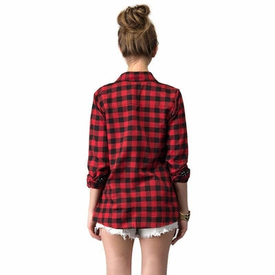 NinjApparel - Extended Plaid - Red - Back