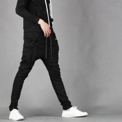 NinjApparel - Drop Crotch Campus Chillers Black Side View