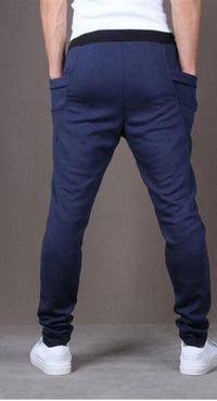NinjApparel - Drop Crotch Campus Chillers Blue Back View