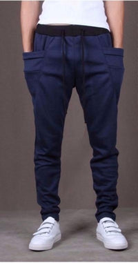 NinjApparel - Drop Crotch Campus Chillers Blue Front View
