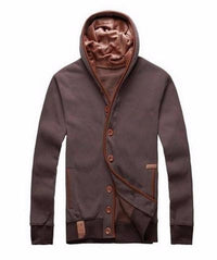 Ninjapparel Chairo Paka Button-Up Brown Front