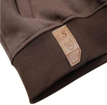 Ninjapparel Chairo Paka Pullover Brown sleeve detail