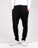 NinjApparel - Button Down Joggers - Black Front View