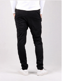 NinjApparel - Button Down Joggers - Black Back View