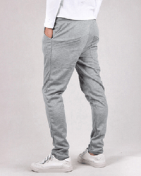 NinjApparel - Button Down Joggers - Light Grey Back View