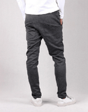 NinjApparel - Button Down Joggers - Dark Grey Back View