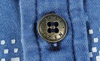 Ninjapparel - Urban Cowboy - Shirt Button Detail