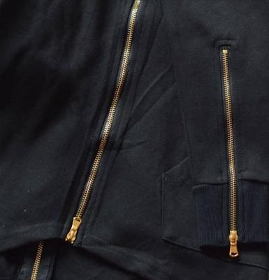 NinjApparel - Jedi Hoodie: Episode II -  Black Zip Detail