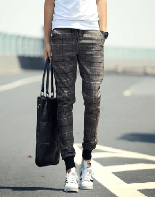 NinjApparel - Chequer Joggers - Coffee