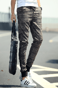 NinjApparel - Chequer Joggers - Coffee 2