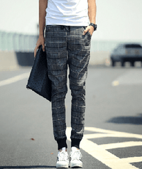 NinjApparel - Chequer Joggers - Grey