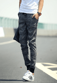 NinjApparel - Chequer Joggers - Grey 2
