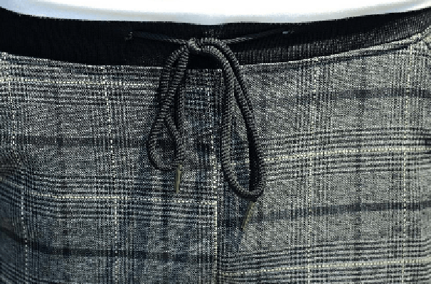 NinjApparel - Chequer Joggers - Close up Drawstring