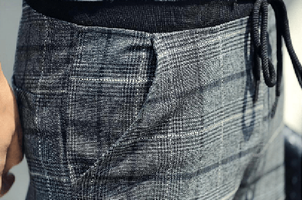 NinjApparel - Chequer Joggers - Close Up Pocket