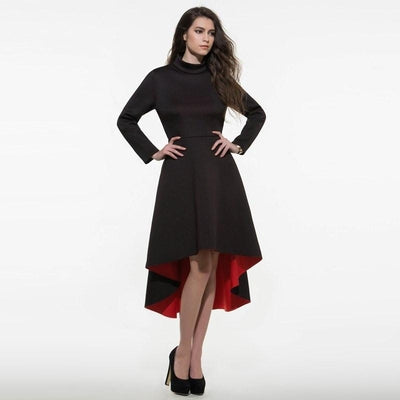NinjApparel - Mystery - Black - Dress - Hips - Red