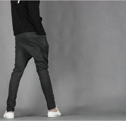 NinjApparel - Drop Crotch Campus Chillers Dark Grey Back View