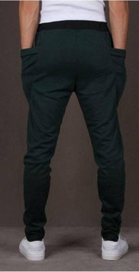 NinjApparel - Drop Crotch Campus Chillers Dark Green Back View