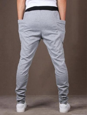 NinjApparel - Drop Crotch Campus Chillers Light Grey Front View