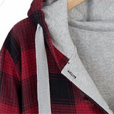 NinjApparel - Plaid Assassin Hoodie - Collar Detail