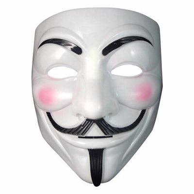 NinjApparel - Anonymous Mask - White - Front
